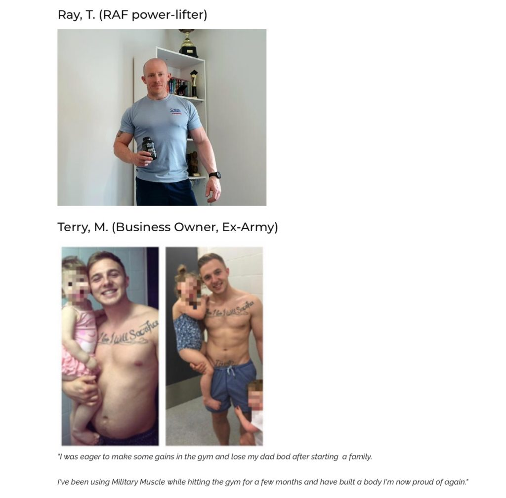 military muscle testimonials